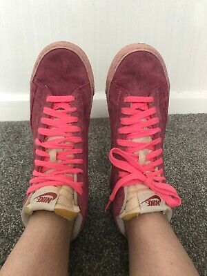 £30 • Buy Nike Blazer Vintage Pink Suede Size 6 Size Boots Trainers Retro Size 7