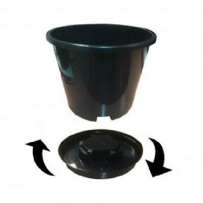 £35.98 • Buy Pack Of FOUR - Twist 'N' Lock Grow Pots - Large 15L Container Pots With Saucers