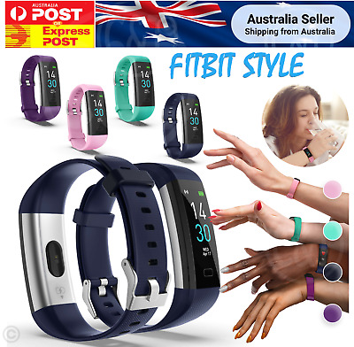 AU34.99 • Buy S5 Bluetooth Fitbit Style Smart Health Wrist Heart Rate Monitor Watch Tracker V2