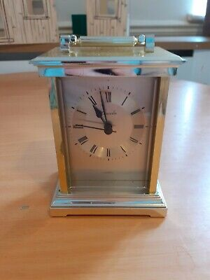 £6 • Buy Lincoln Quartz Carriage Clock - Tested And Fully Working - Gold Colour