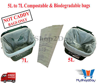 £3.47 • Buy 5L X 20 Bags Compostable & Biodegradable Food Caddy Liners, Waste Bin Liner UK