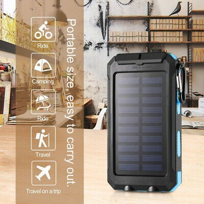 AU20 • Buy Solar Power Bank 10000mAh Waterproof Solar Power Banks Double LED Torches And Co