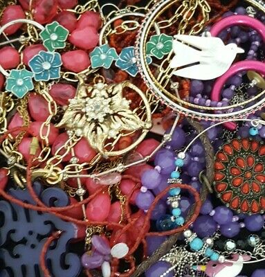 $ CDN30.24 • Buy Vintage Now Junk Drawer Jewelry Lot Unsearched Untested Estate Most Wear L894