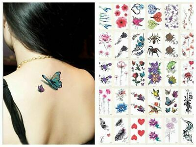 £1.99 • Buy 30 Style Temporary Tattoos Sleeves Paper For Women Body Art Tattoo Stickers Fake