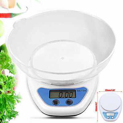 £5.99 • Buy 5KG Digital Kitchen Scales LCD Electronic Cooking Weighing Scale With Bowl UK