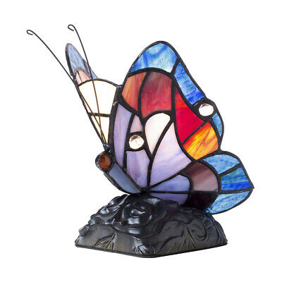 £41 • Buy Tiffany By Tiff 1 Light Butterfly Table Lamp In Blue And Black Litecraft