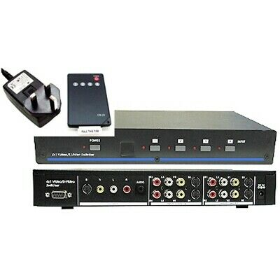 £66.50 • Buy S-Video / Composite RCA 3-phono Audio/Video 4-way Switch Manual / Remote Control