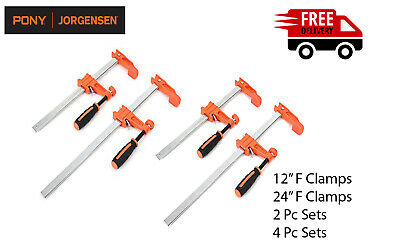 £24.95 • Buy Jorgensen 12  & 24  F CLAMPS Woodworking Brick Laying Profile Quick Slide