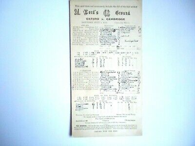OXFORD UNIVERSITY  V  CAMBRIDGE UNIVERSITY   Cricket Scorecard  1939  -  LORDS   • 4£