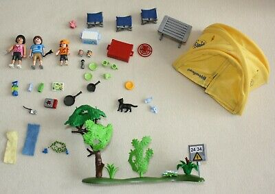 PLAYMOBIL 5435 Family Camping With Tent And Accessories • 3.50£