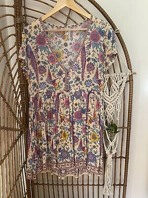 AU148 • Buy Spell And Gypsy Lovebird Mini Dress- Chamomile, Size Small, BNWT