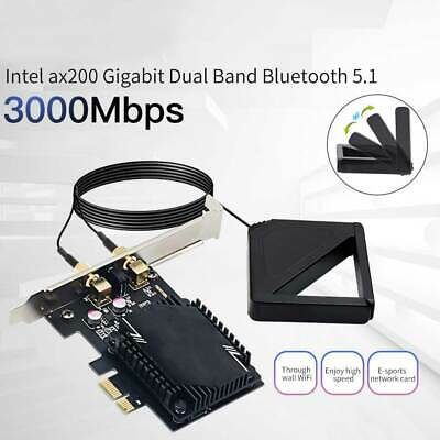 £9.95 • Buy Wireless Network Card Antenna 3000M WiFi6 Pcie Signal Dual Frequency Gaming
