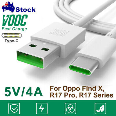 AU12.99 • Buy Genuine OPPO VOOC USB Type-C Cable Fast Charger Charging For OPPO R17 A5 A9(2020