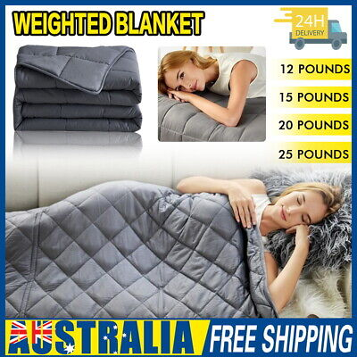 AU56.05 • Buy Premium Cooling Weighted Blanket Adult 5/7/9/11KG Heavy Gravity Deep Sleep Relax