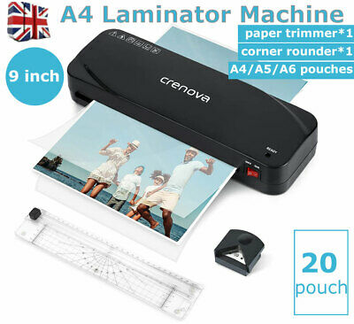 £20.19 • Buy A4 Laminator Machine With 20PCS Pouches & Paper Trimmer & Corner Rounder
