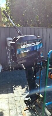 AU1100 • Buy Mercury Outboard Motor 15 Hp, Tank And Hose And Extendable Tiller