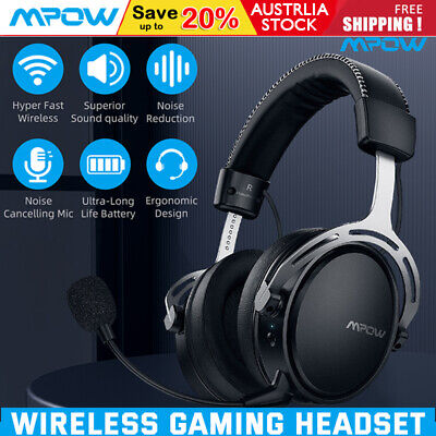 AU81.69 • Buy Mpow Air 2.4G Wireless Gaming Headset Surround Headphone PS4 PC Noise Cancelling