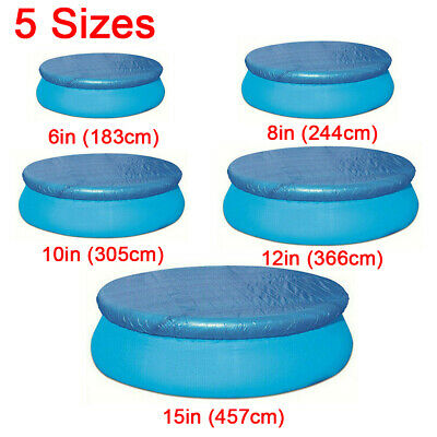 £12.29 • Buy Rectangle/Round Swimming Pool Cover For Intex Bestway Garden Outdoor 9 Sizes UK
