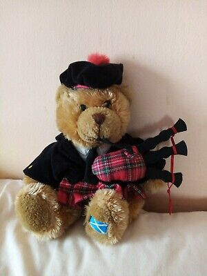 £7.99 • Buy Keel Branded Scottish Bagpipe Collectable 11  (28cm)Bear With Kilt And Bagpipes
