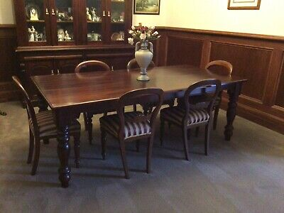 AU100 • Buy  Mahogany Dining Table With Antique Balloon Backed Chairs