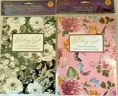 £4.50 • Buy Writing Set Floral Illustrated Writing Paper & Envelopes 10 Each