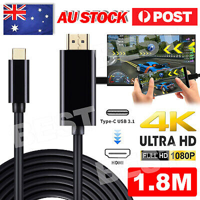 AU10.85 • Buy USB C To HDMI Cable USB Type C Male To HDMI Male 4K Cable For Macbook Chromebook