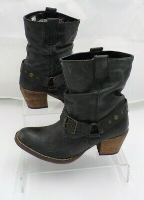 £24.99 • Buy Next Women's Grey Leather Casual High Heel Ankle Boots Size UK 6 EUR 39