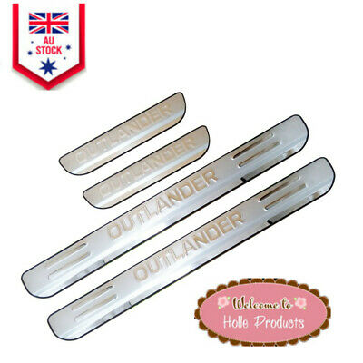 AU26.58 • Buy Car Accessories Stainless Steel Door Scuff Plate Trim For Outlander 2013-2020