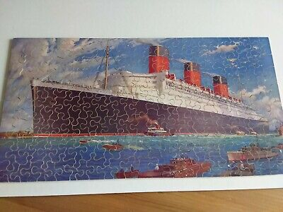 £15 • Buy Vintage Chad Valley Wooden Jigsaw. White Star Queen Mary Complete Puzzle 200pcs