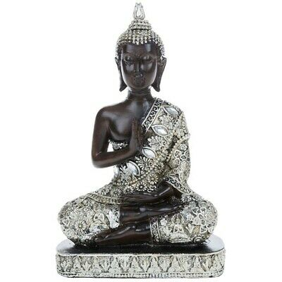 THAI BUDDHA Sitting Ornament Figure Statue Sculpture MEDITATING Figurine • 12.99£