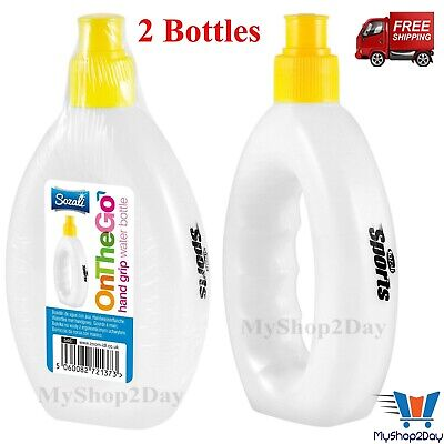 2 X 250ml Sports Grip Water Bottles Joggers Exercise Jogging Training Runners • 6.67£