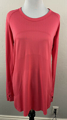 $ CDN42.45 • Buy Lululemon Swiftly Tech Long Sleeve Shirt Hot Pink Sz 12 Large L Fitted Top