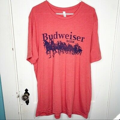 $ CDN26.71 • Buy Budweiser Beer T-Shirt Clydesdales Wagon Red 2XL Red Navy Graphic