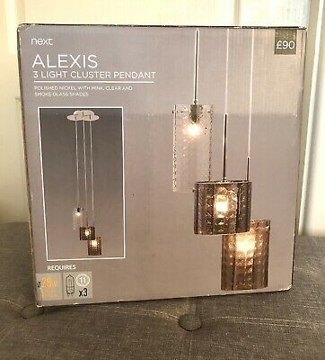 £65.99 • Buy Next Ceiling Light Fittings Alexis Cluster Pendant Brand New With Box RRP £90