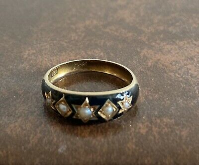 £449.99 • Buy Antique Victorian Mourning Ring