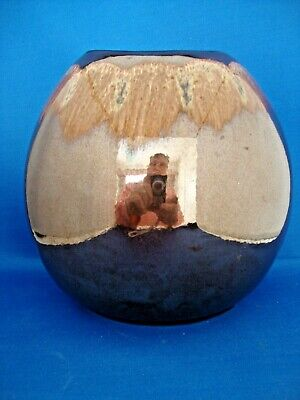 £26.95 • Buy Poole Pottery Living Glaze Precious Pattern Brown Purse Vase 7 1/2 Inch