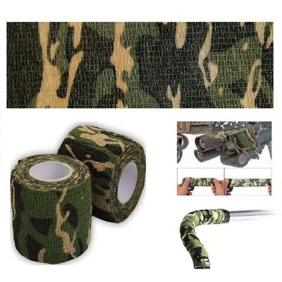 £5.69 • Buy 5CM*4.5M Camo Gun Hunting Waterproof Camping Camouflage Stealth Duct Tape Wrap