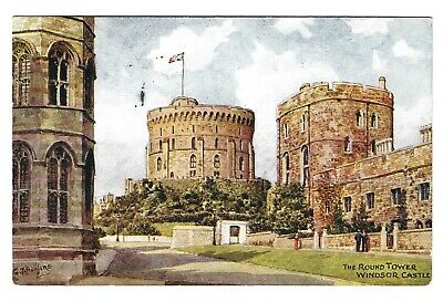 J Salmon Berkshire Card 4139. Windsor Castle The Round Tower Artist C T Howard.. • 2.99£
