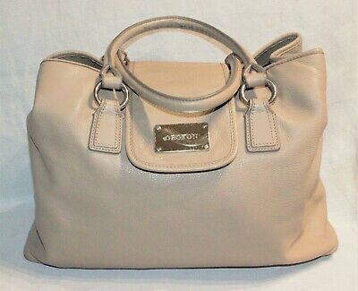 AU43 • Buy RRP$595 OROTON Large Light Latte Brown Leather Designer Handbag/Henri Tote Bag