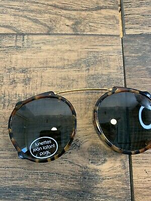 AU127.11 • Buy Vintage VALENTINO Les Lunettes Clip On Sunglasses & Brown Leather Case ITALY 123