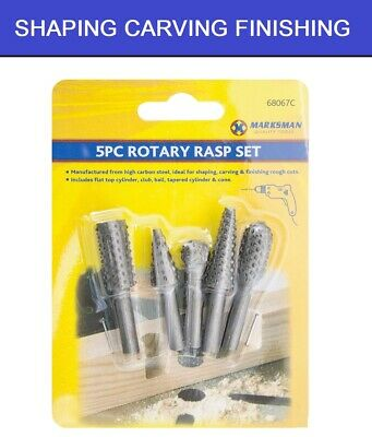 £4.99 • Buy 5 PC Rotary Burr Bit Tungsten Carbide Point Die Grinder Shank Carving Set Tools