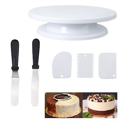 £7.29 • Buy 6Pcs Cake Decorating Turntable 11-24  Set Tools Rotating Stand Smoother Spatula