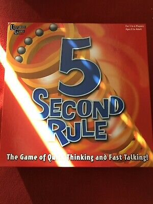 AU16.23 • Buy University Games 5 Second Rule Board Game 2010 Edition - Free UK Postage!