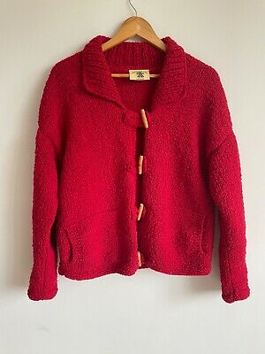 Pachamama Handknitted Wool Cardigan Jumper - Size M/L • 55£