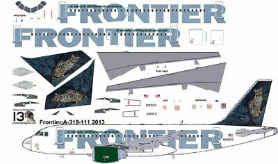 £7.10 • Buy Frontier Ocelot Airbus A319 Pointerdog7 Decals For Revell 1/144 Kits