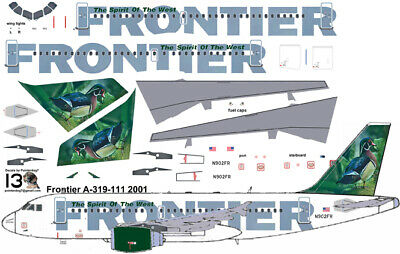 £7.10 • Buy Frontier Duck Delivery Airbus A319 Pointerdog7 Decals For Revell 1/144 Kits