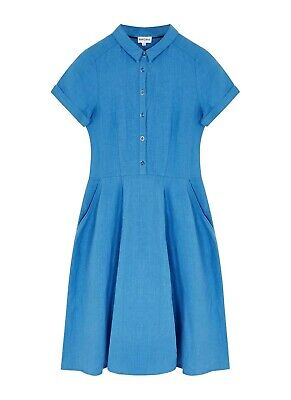 BRORA 100% Linen Tennis Fit And Flare Dress Current RRP £195 UK 16 • 9.99£