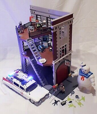 Playmobil Ghostbusters Bundle, Firehouse, Ecto 1 Car, Puft Marshmallow Man • 44.90£