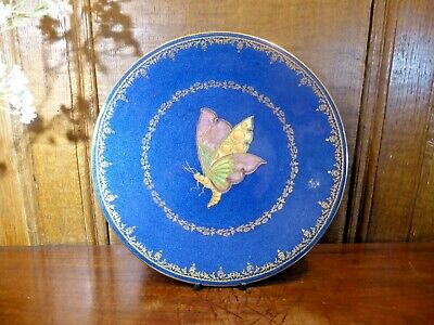 £89.95 • Buy ANTIQUE EXCELLENT Wedgwood BUTTERFLY LUSTRE Powder Blue & Gilt PLATE - 23.5cms C