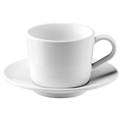 £18 • Buy Ikea Expresso Tea Coffee Cups With Saucers Set 13cl And 6cl White Durable [4in1]